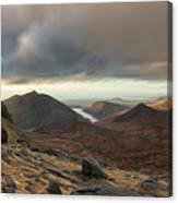 Golden Light Breaking On Slieve Bearnagh  Canvas Print