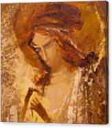 Golden Light Of Angel. Fragment Canvas Print