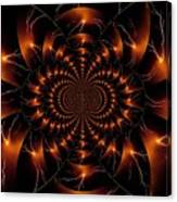 Golden Lightning Illusion Canvas Print