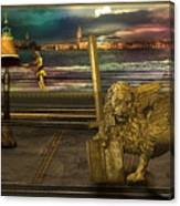 Golden Lion From Alternative Earth Canvas Print