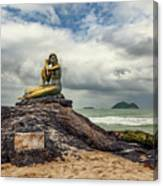 Golden Mermaid Thailand Canvas Print