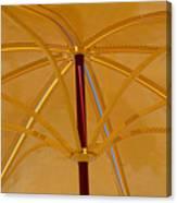 Golden Metal Parasol Umbrella Canvas Print
