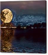 Golden Moon Canvas Print