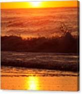 Golden Ocean City Sunrise Canvas Print