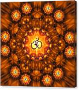 Golden Om Fracdala Canvas Print