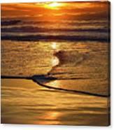 Golden Pacific Sunset Canvas Print