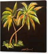 Golden Palms 2 Canvas Print