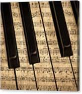 Golden Pianoforte Classic Canvas Print