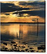 Golden Rays At Sunset Canvas Print