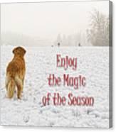 Golden Retriever Dog Magic Of The Season Canvas Print