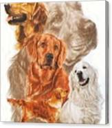 Golden Retriever W/ghost Canvas Print