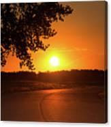 Golden Road Sunrise Canvas Print