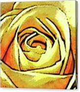 Golden Rose Flower Canvas Print