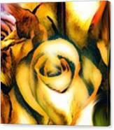 Golden Rose N Twilight Canvas Print