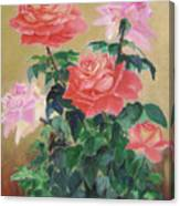 Golden Roses Canvas Print
