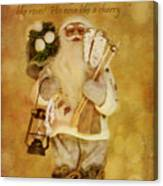 Golden Santa Card 2015 Canvas Print