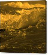 Golden Sea Waves Graphic Digital Poster Art By Navinjoshi At Fineartamerica.com Ideal For Wall Decor Canvas Print