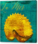 Golden Shell Canvas Print