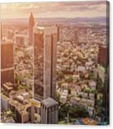 Golden Skyscrapers Of Frankfurt Canvas Print