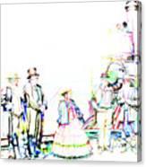 Golden Spike Railroad - Wating - 0749 J Canvas Print