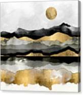 Golden Spring Moon Canvas Print