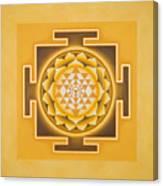 Golden Sri Yantra - The Original Canvas Print
