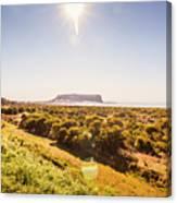 Golden Stanley Landscape Canvas Print