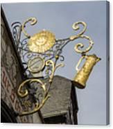 Golden Sun Sign Rudesheim Canvas Print