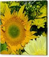 Golden Sunflower Yellow Bouquet By Kaye Menner Canvas Print