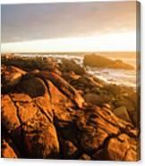 Golden Sunset Coast Canvas Print