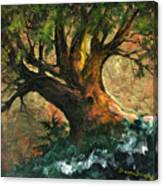 Golden Tree Of Life Canvas Print