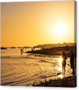 Golden Tropics Hot Beach Sun Canvas Print