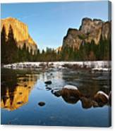 Golden View - Yosemite National Park. Canvas Print