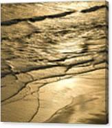 Golden Waves Canvas Print