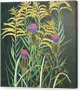 Goldenrod In Summer Canvas Print