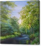 Goldenstream Canvas Print