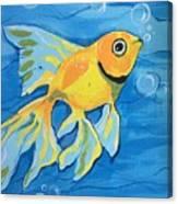 Goldfish Whisper Canvas Print