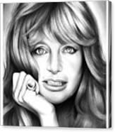 Goldie Hawn Canvas Print
