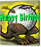 Golf A Saurus Birthday Canvas Print