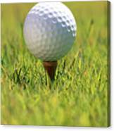 Golf Ball On Tee Canvas Print