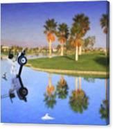 Golf Cart Stuck In Water Canvas Print