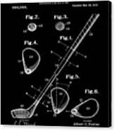 Golf Club Patent 1910 Black Canvas Print