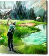 Golf In Crans Sur Sierre Switzerland 01 Canvas Print