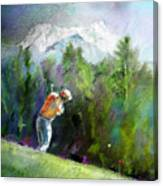 Golf In Crans Sur Sierre Switzerland 02 Canvas Print