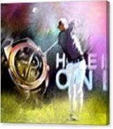 Golf In Crans Sur Sierre Switzerland 03 Canvas Print