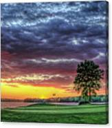 Golf Sunset Number 4 The Landing Reynolds Plantation Golf Art Canvas Print