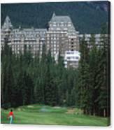 Golfer Heaven In Banff Canvas Print