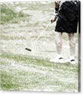 Golfing Putting The Ball 01 Pa Canvas Print