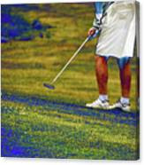Golfing Putting The Ball 02 Pa Canvas Print