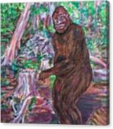 Goliath - The Bigfoot Of Ash Swamp Road Canvas Print